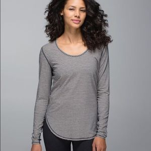 Pinstripe 5 year yogini long sleeve